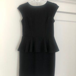 Mossimo fitted black dress with ruffled waist